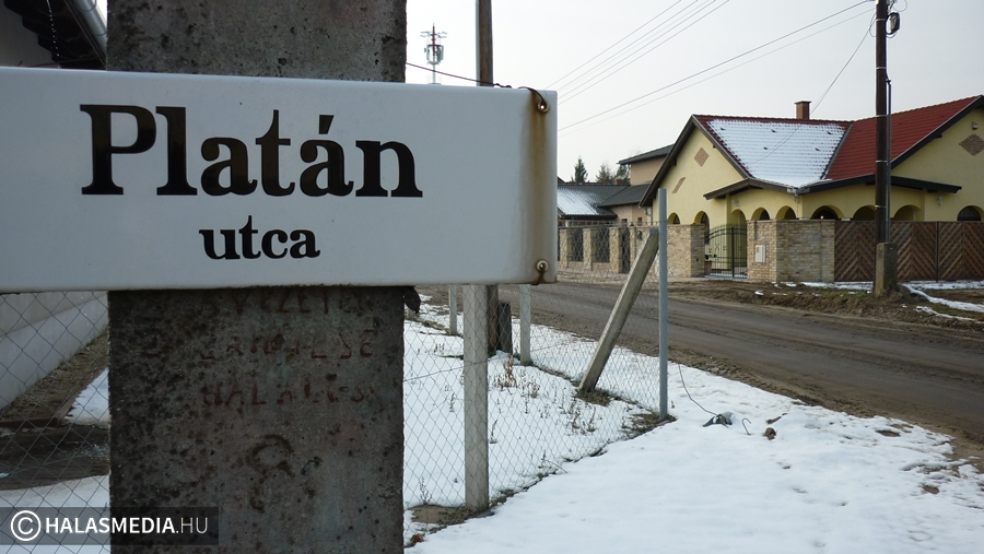 Aszfaltos utat kap a Platán és a Halászcsárda utca