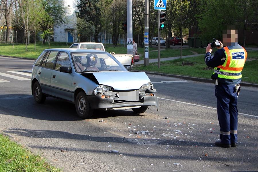 Suzuki és két Fiat ütközött