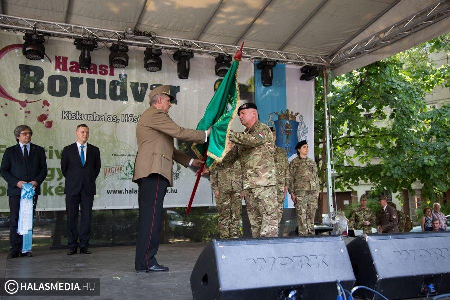 Zászlóadományozás, látványos katonai bemutatók Halason (galéria)