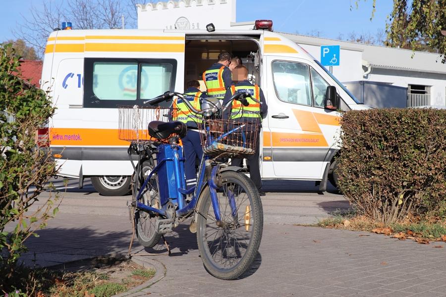 Kerékpáros baleset a piacnál
