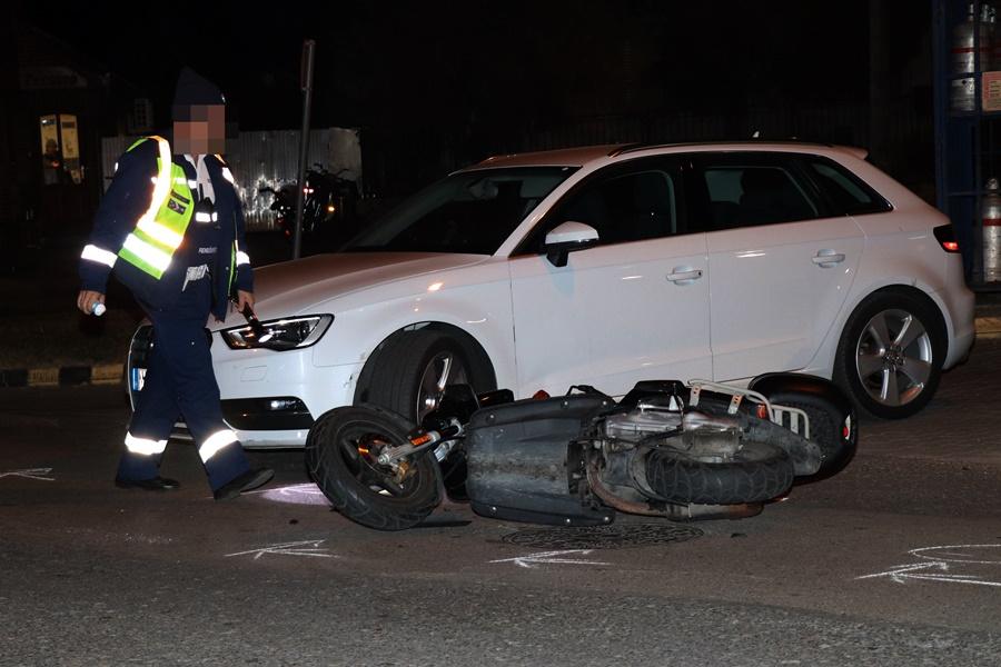Motorost ért baleset a Vadkerti úton