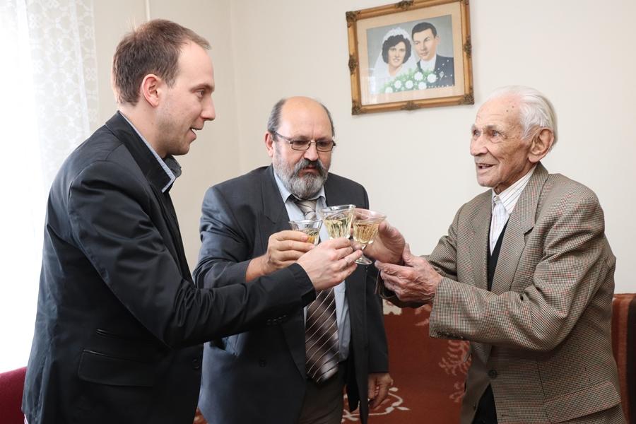 A 95 éves Nagyapáti Jenőt köszöntötték (galéria)