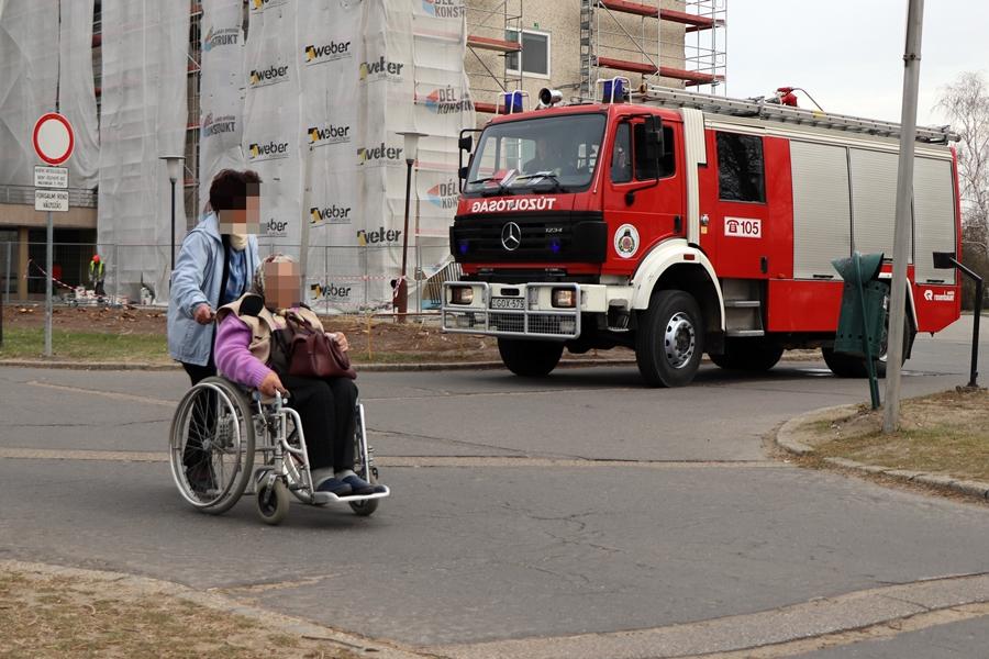 Bejelzett a kórházi tűzjelző (galéria)