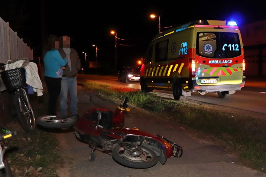 Elektromos biciklis férfi okozott balesetet a Kőrösi úton (galéria)