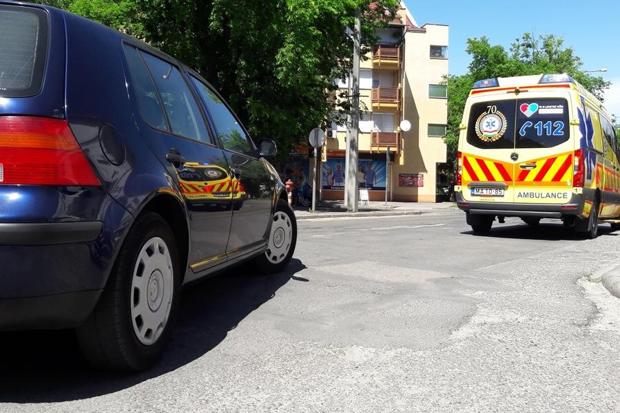 Újabb kerékpáros baleset a Kossuth utcán