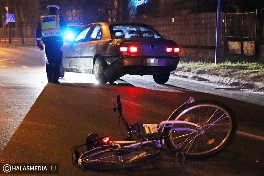 Jogosítvány nélkül, kerékpárost gázolt és felmerült az ittasság gyanúja (galéria)