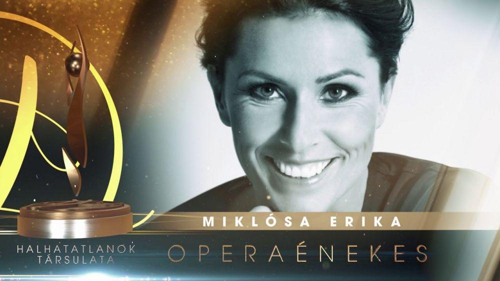 Miklósa Erika bekerült a Halhatatlanok Társulatába