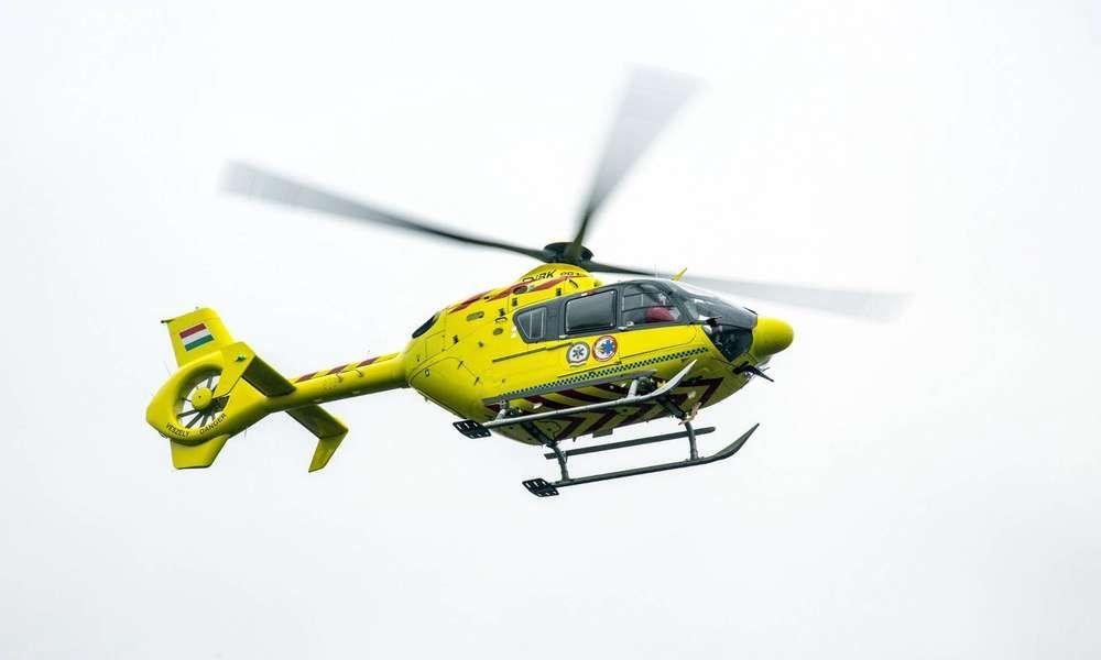 Mentőhelikoptert riasztottak a kiskunmajsai balesethez
