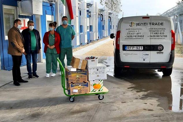 A Jenei Trade Kft. adománya a halasi járványkórháznak