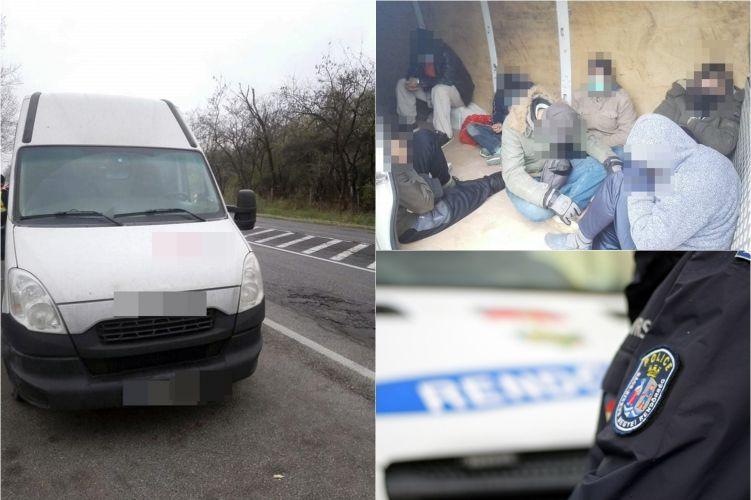Litván embercsempész és szír migránsok Kisszállásnál