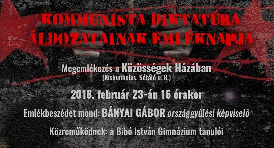 Kommunista diktatúrák áldozatainak emléknapja 2018