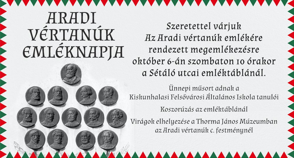 Aradi vértanúk emléknapja 2018