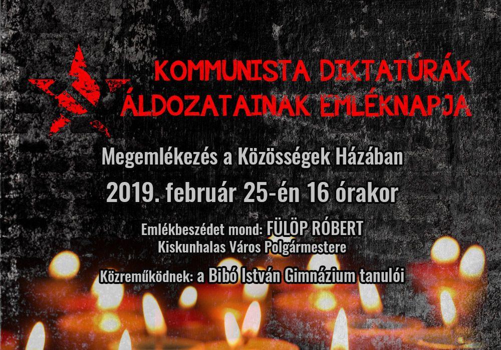 A kommunista diktatúrák áldozatainak emléknapja 2019