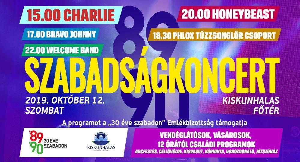 (►) Charlie és Honeybeast koncert Halas főterén