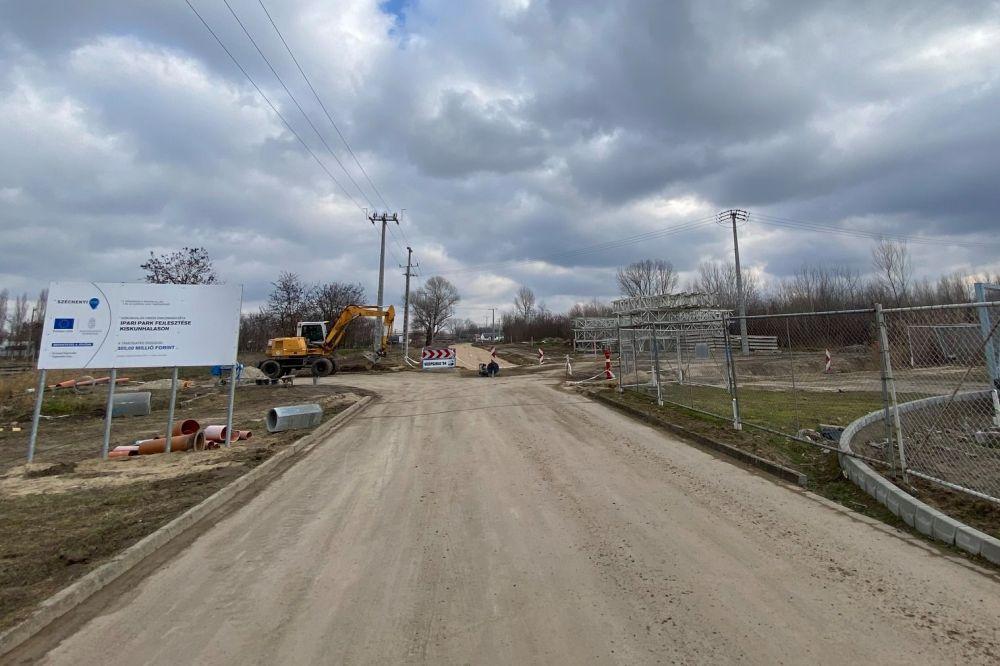 A tervezett ütemben halad az Ipari Park bővítése
