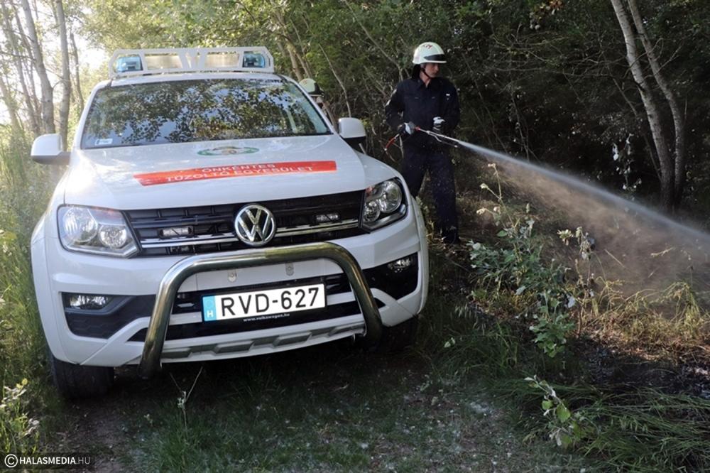 Kigyulladt az erdő: az önkéntes mentőszervezet segítette a tűzoltók munkáját (galéria)
