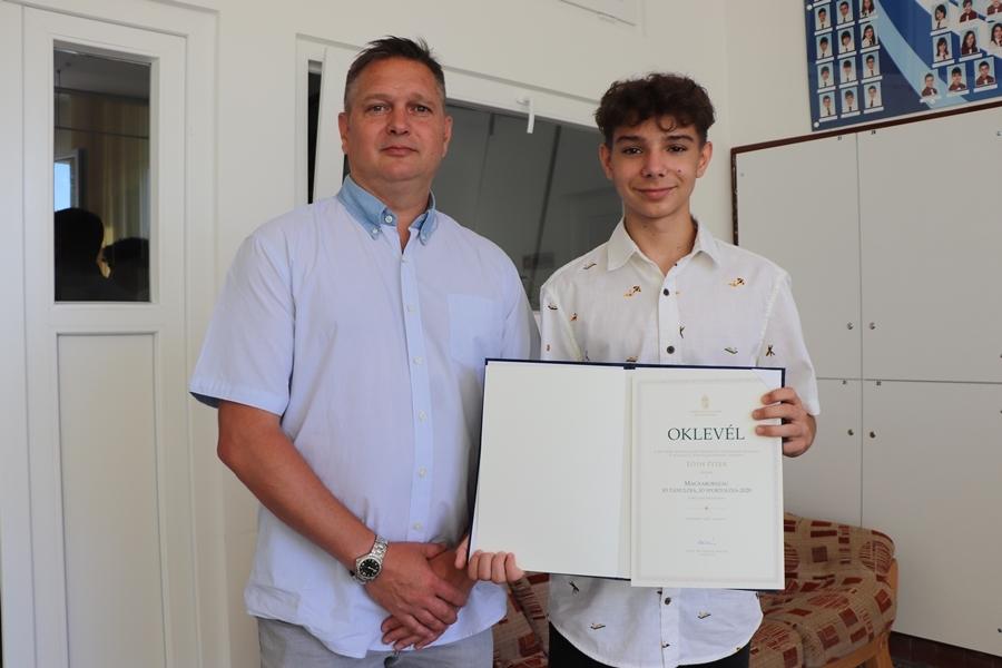 Ifj. Tóth Péter Magyaroszág jó tanulója, jó sportolója (galéria)
