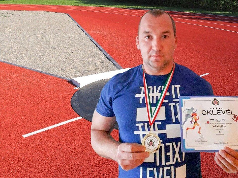 Csernák Zsolt aranyérmes súlylökésben