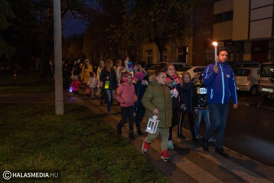 Márton napi felvonulás Halas belvárosában
