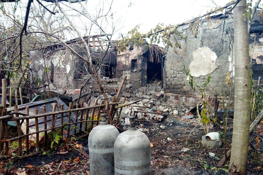 Teljesen kiégett egy ház Kelebián