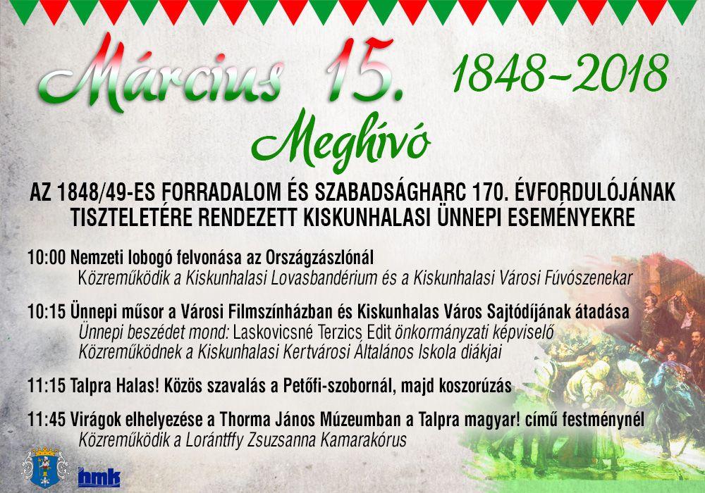 Március 15-i ünnepi események