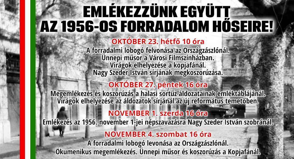 Ünnepi műsor az 1956-os Forradalom és Szabadságharc emlékére