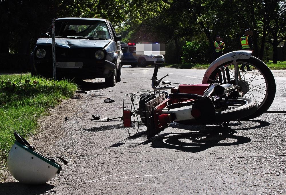Motor és autó ütközött (frissítve)