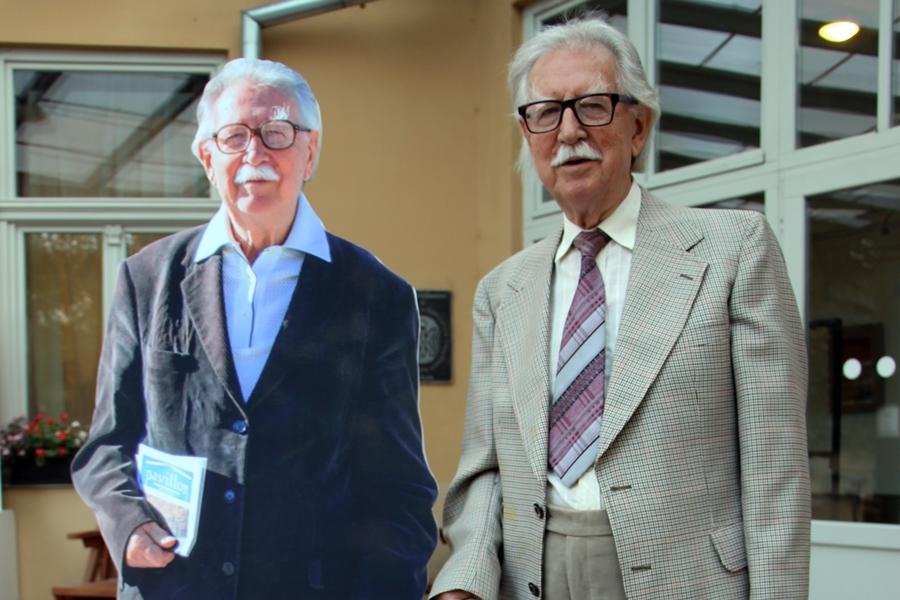 A 92 éves Baráth József (utolsó?) kiállítása