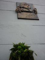 Koszorúzás Berki Viola pesti emléktáblájánál