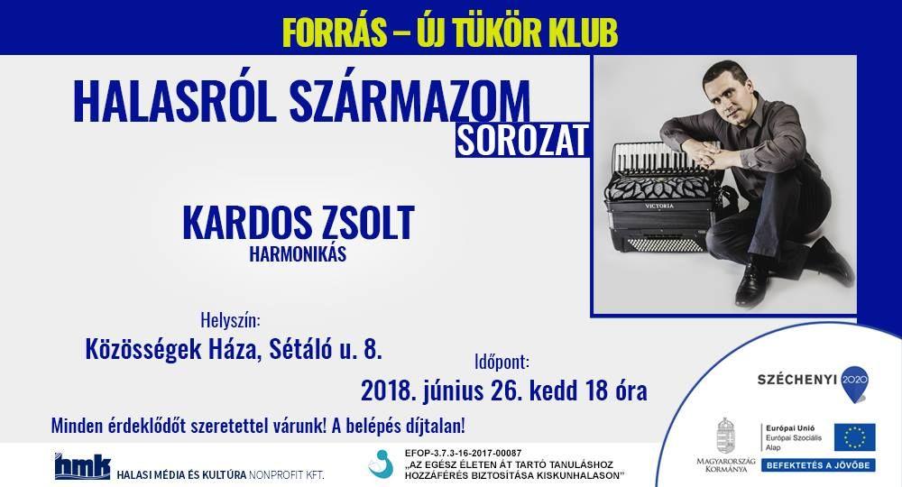 Kardos Zsolt Halason harmonikál