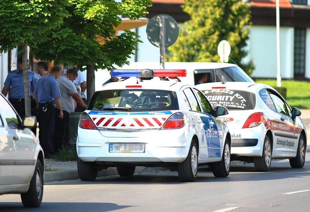 Rendőri intézkedés a Halasi Csárdánál