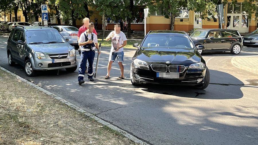 BMW hajtott Suzukiba a Jósika utcán