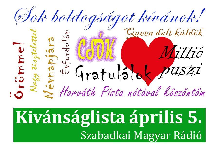 Dallista április 5