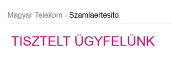 Ne klikkeljen a kamu Telekomos e-mailre!
