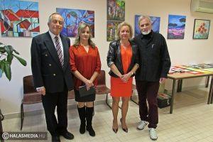 Debreceni művész halasi tárlata