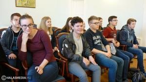 Kronachi diákok a Városházán