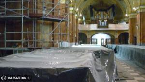 Folytatódik a katolikus templom felújítása