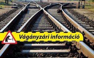 Vágányzár lesz a Budapest-Kelebia vonalon