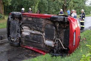 Felborult egy Hyundai Halas határában (galéria)