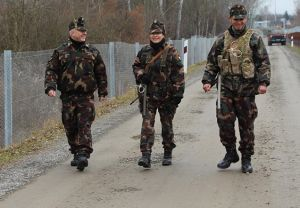 Honvédelmi gyakorlat a déli határon