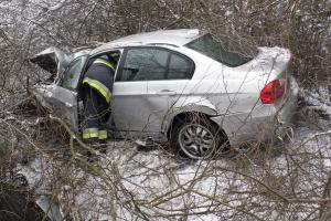 Fákat döntött ki egy BMW