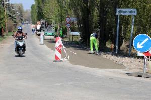 Útalap betonozás a Tinódi utcában (galéria)