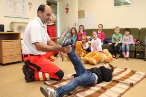 Malustyik László mentőtiszt megyei elismerése