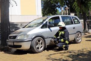 Túlmelegedett a fék, a tűzoltókat hívták