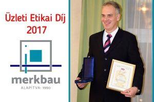 A Merkbau elnyerte az Üzleti Etikai Díjat