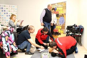 Az újraélesztésről tanultak az UKSC edzői (galéria)
