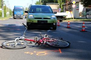 Elütötte a kerékpárját toló férfit (galériával)