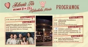 Az Adventi tér hétvégi programja