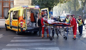 Idős kerékpáros sérült a balesetben (galériával)